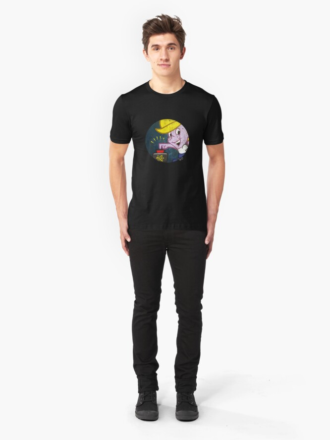 """Alternate view of """"Atomic"""" Tommy Forceps in a circle Slim Fit T-Shirt"""
