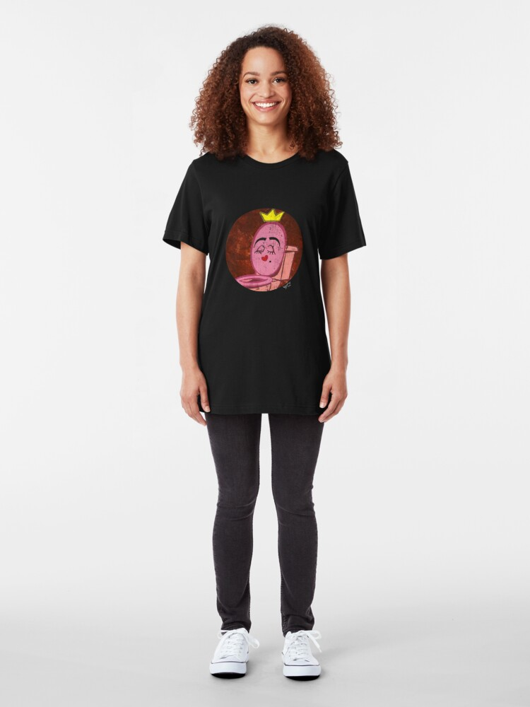 Alternate view of Queen Glandulaire in a Circle Slim Fit T-Shirt