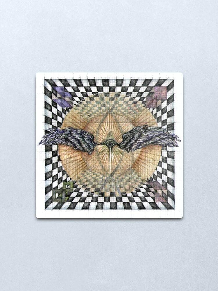 Alternate view of wheel 6: Perceptual Insight Metal Print