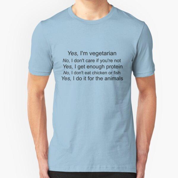 Vegetarian Text Slim Fit T-Shirt