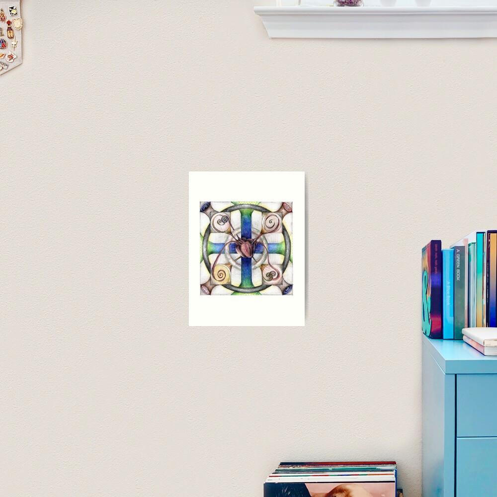 wheel 4: Path with Heart Art Print