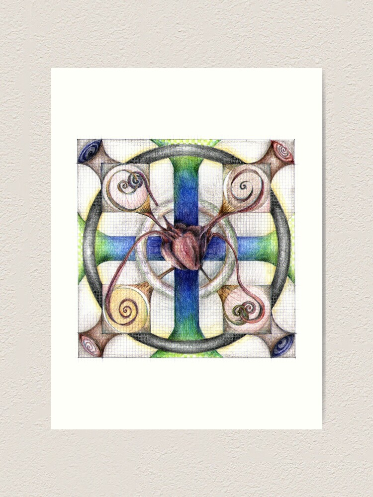 Alternate view of wheel 4: Path with Heart Art Print