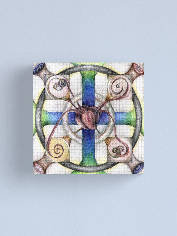 Alternate view of wheel 4: Path with Heart Canvas Print