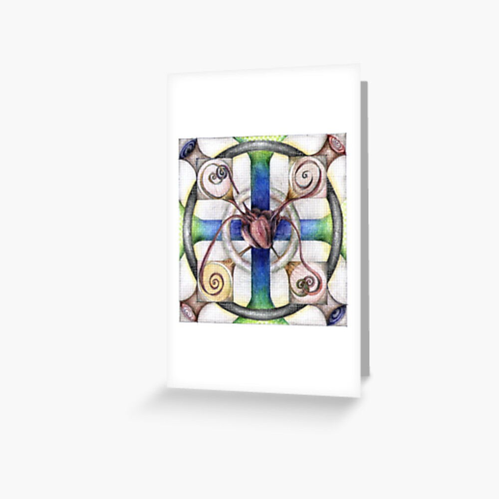 wheel 4: Path with Heart Greeting Card