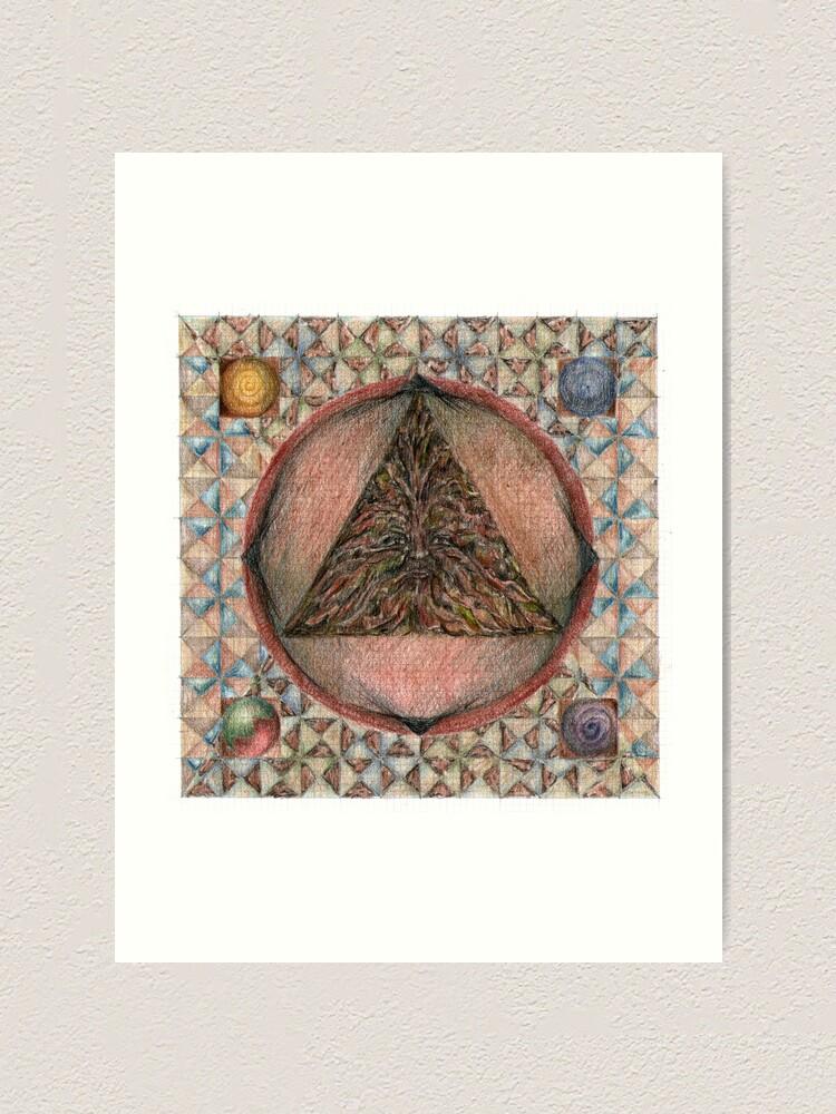 Alternate view of wheel 3: Individuation Art Print