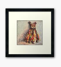 The Empty Dress Framed Print