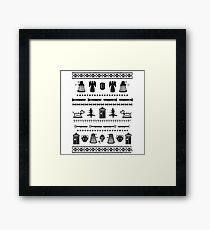 DOCTOR WHO HOLIDAY Framed Print