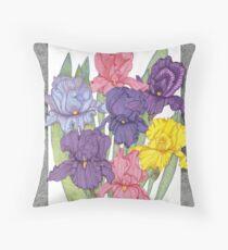 Dots of Irises Throw Pillow