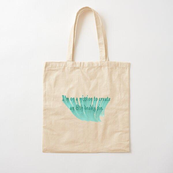 Create New Deadly Sin Dark Humor Word Art Cotton Tote Bag