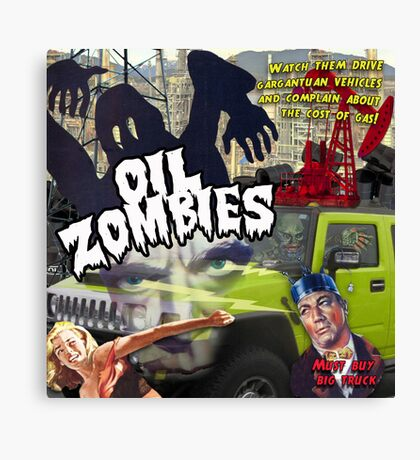 Oil Zombies Canvas Print