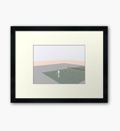 TENNISSPILLERE Framed Print