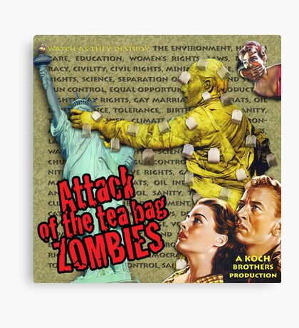 Attack of the Tea Bag Zombies Canvas Print