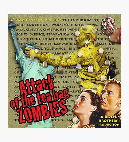 Attack of the Tea Bag Zombies Photographic Print