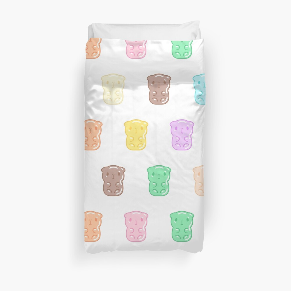 Bubu the Guinea pig, Gummy Guinea Pigs  Duvet Cover