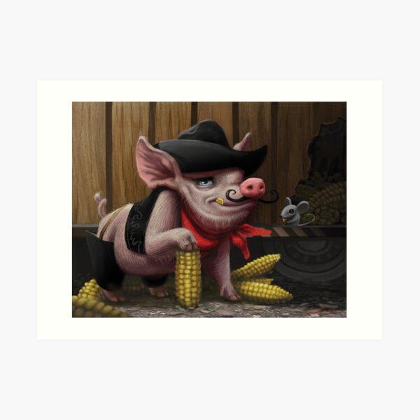 Pig Bandit Trikes Again! Art Print