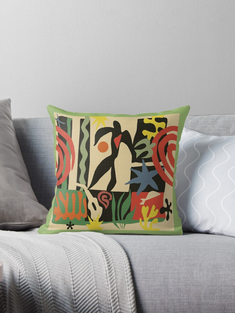 Quot Inspired By Matisse Vintage Quot Throw Pillows By