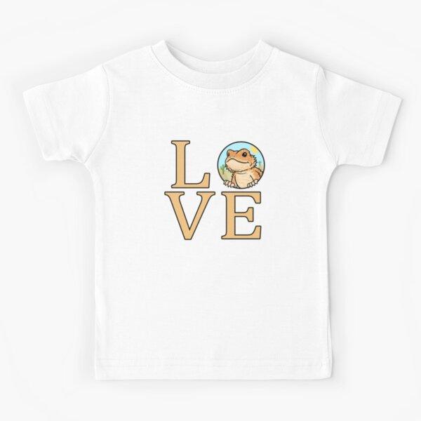 Bearded Dragon Love Kids T-Shirt