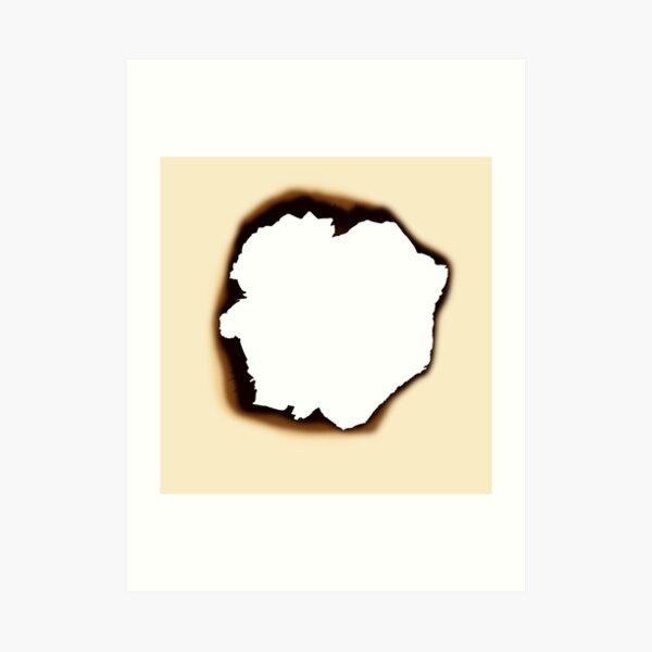 Burnt Hole Art Print