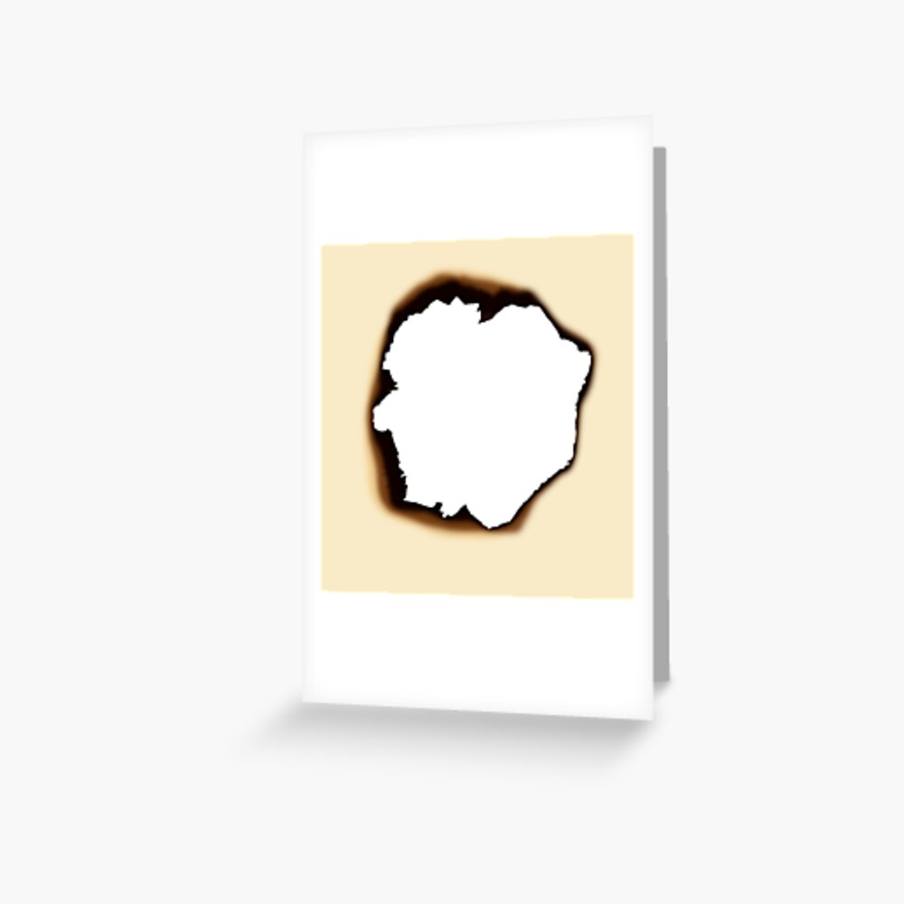Burnt Hole Greeting Card