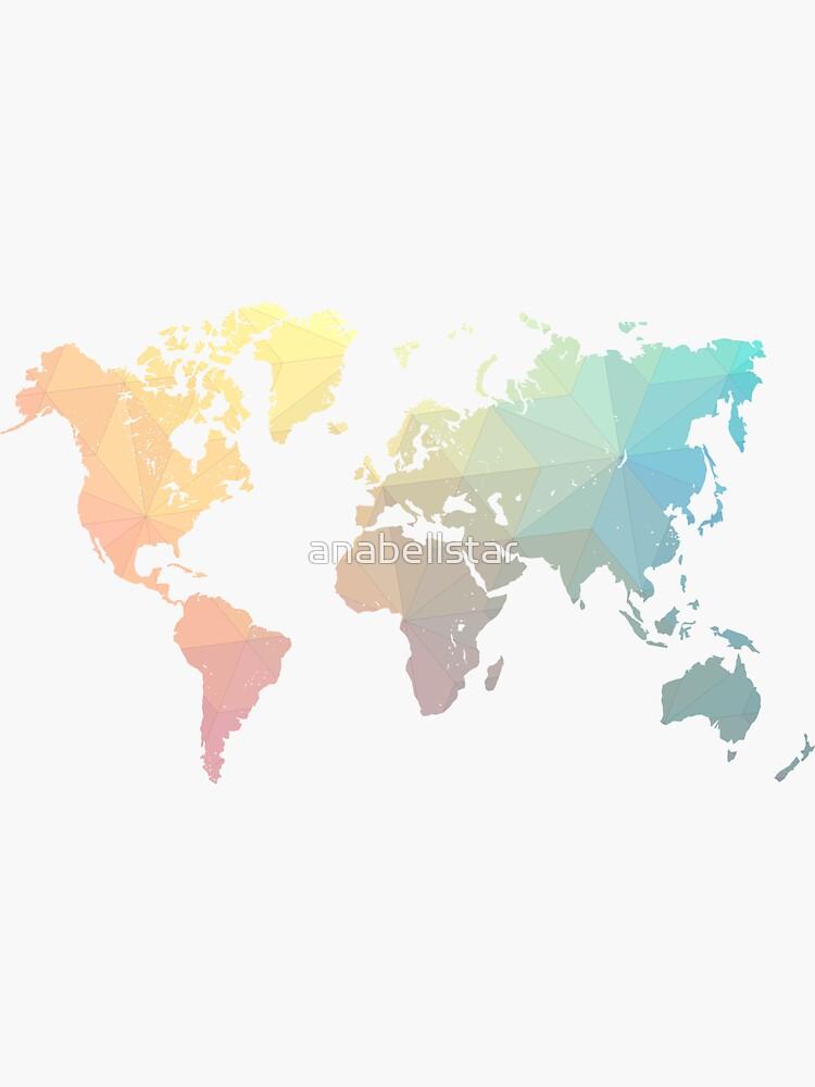 Geometric World Map Art by anabellstar