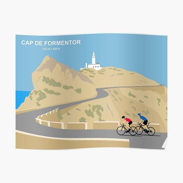 Cap De Formentor Mallorca Cycling Art Print Poster