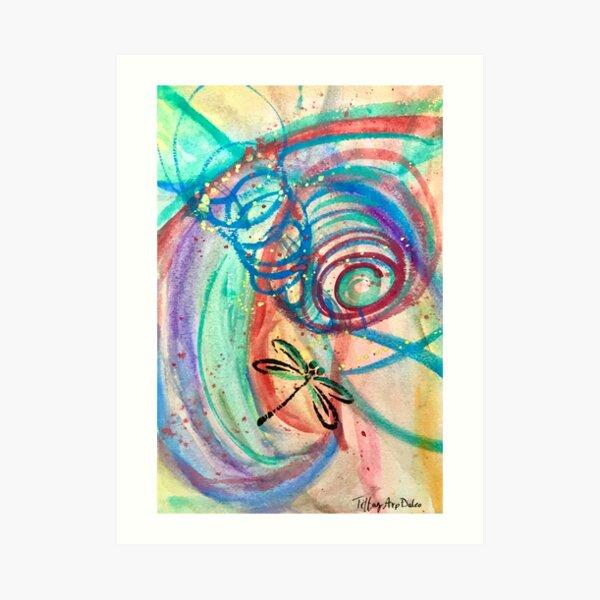 Dragonfly Spiraling Art Print