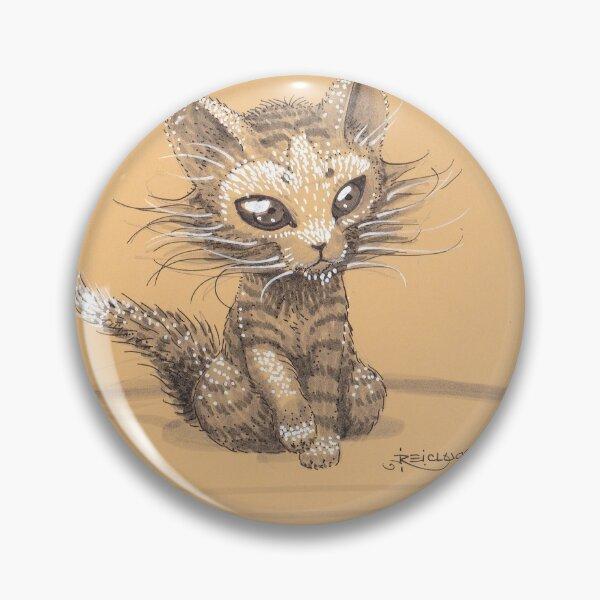 Exotic dark eyed kitten Pin