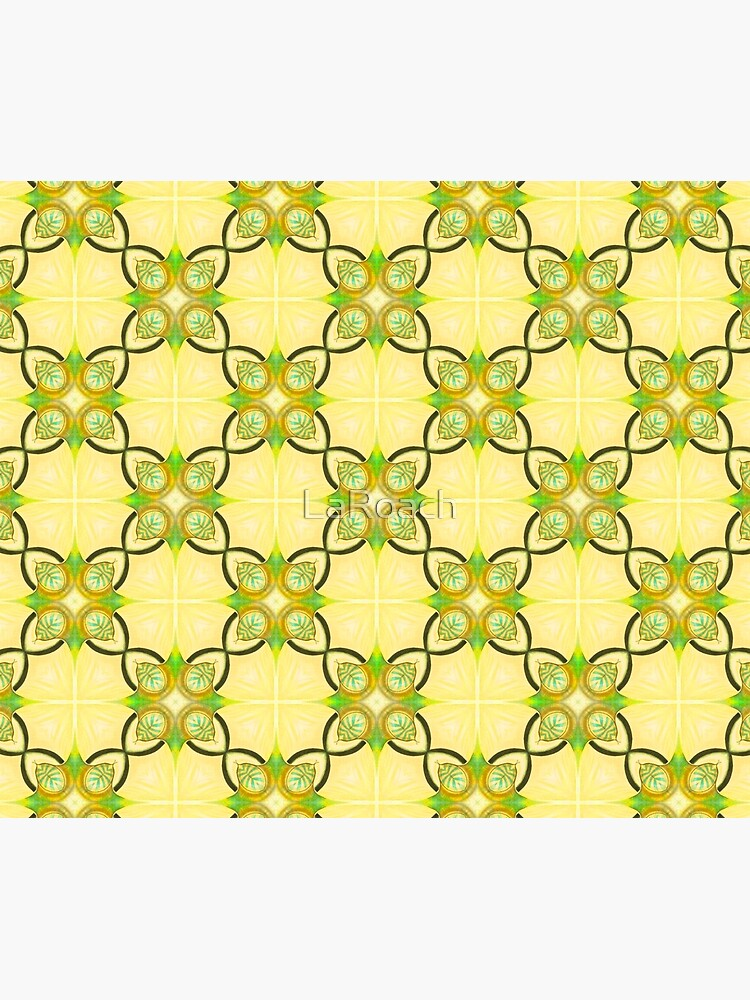 Gold, Blue and Green Repeat Pattern by LaRoach