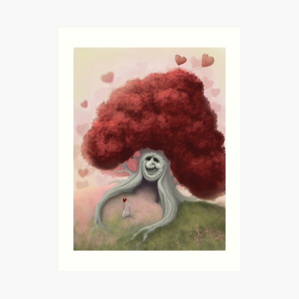 The Valentine's Tree Art Print