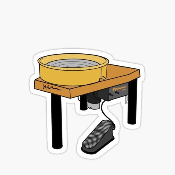 Yellow Pottery Wheel Sticker