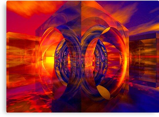 Sunset Behind the Mirrors by Benedikt Amrhein