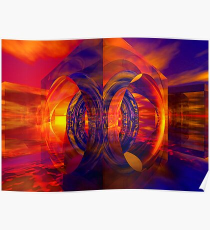 Sunset Behind the Mirrors Poster