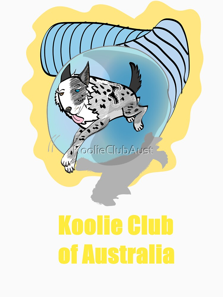 Koolie in Tunnel with Koolie Club of Australia in yellow by KoolieClubAust