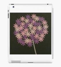 Purple pink and cream Allium iPad Case/Skin