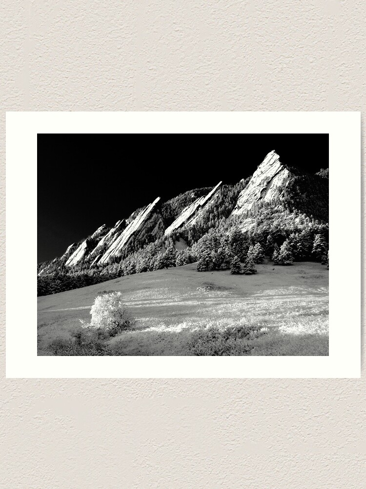 Alternate view of Flatirons In Infrared Art Print