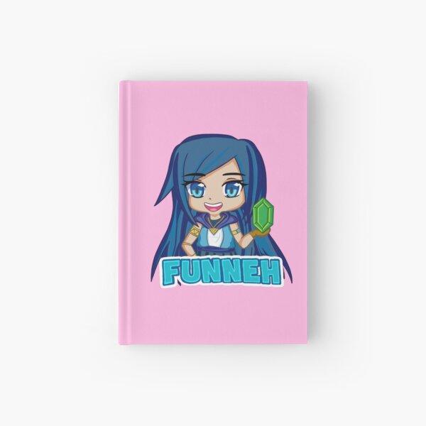 Funneh Blue Hair Gamer  Hardcover Journal