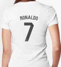 cristiano ronaldo Women's Fitted V-Neck T-Shirt