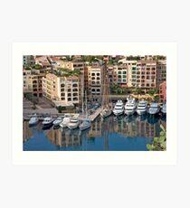 Reflections On Monte Carlo Art Print