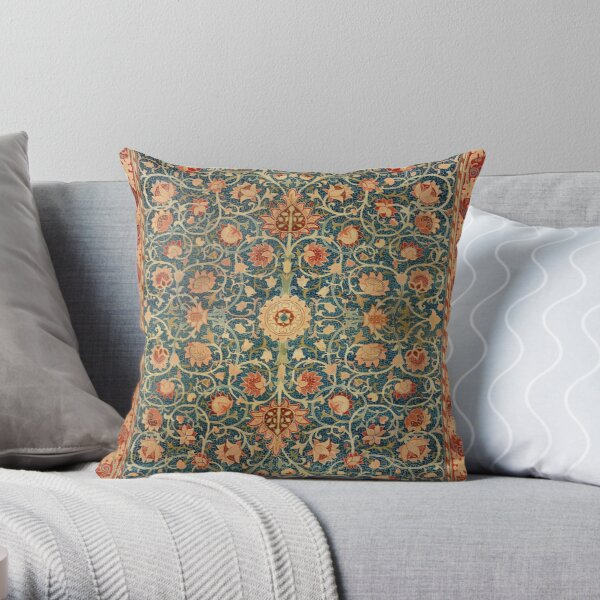 Holland Park William Morris Carpet Print Throw Pillow