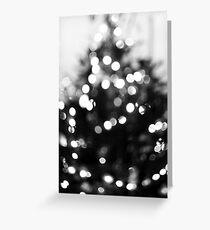 Christmas Bokeh III Greeting Card