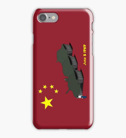 Tank Man (Unknown Rebel) - China, Tiananmen Square protest  iPhone Case/Skin