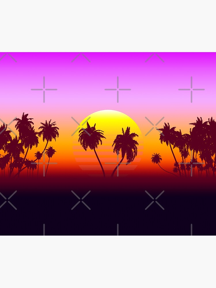 Palm Trees Sunset by GaiaDC