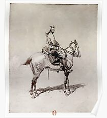 Georges Scott Greek Cavalryman Poster