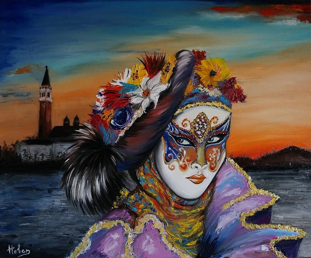 Venetian mask  by Helen Bellart