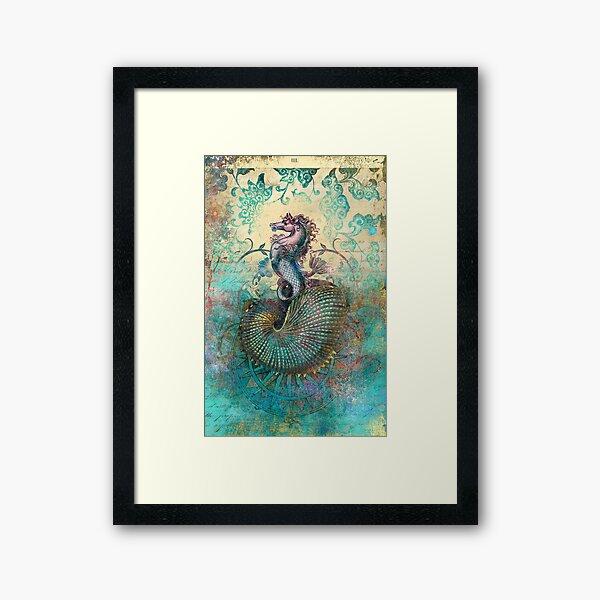 The Seahorse Diary Framed Art Print