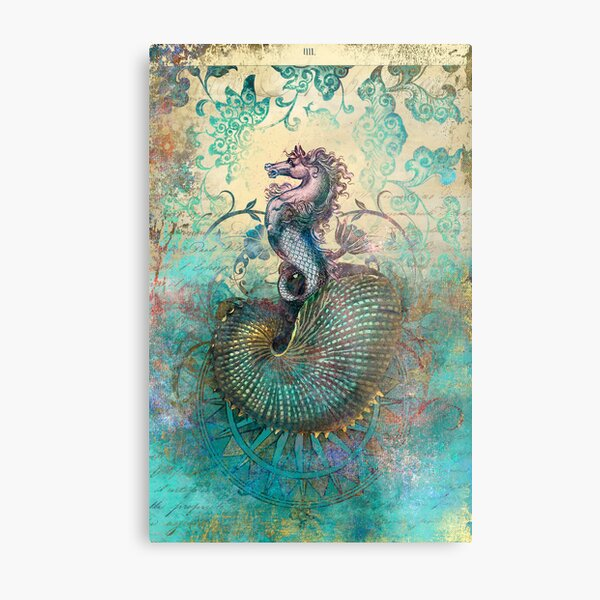 The Seahorse Diary Metal Print