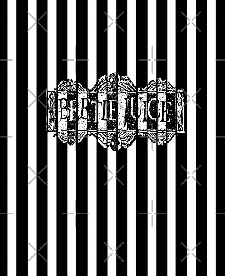 Black And White Beetlejuice Wallpaper Ipad Case Skin By Faerendipity Redbubble
