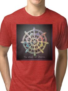 The Wheel of Dharma Tri-blend T-Shirt