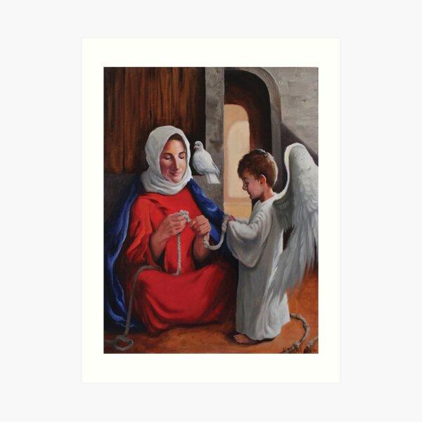 Mary Undoer of Knots  Art Print