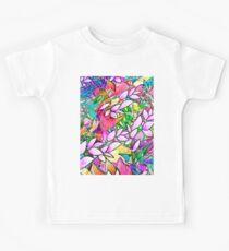Grunge Art Floral Abstract G130 Kids Tee